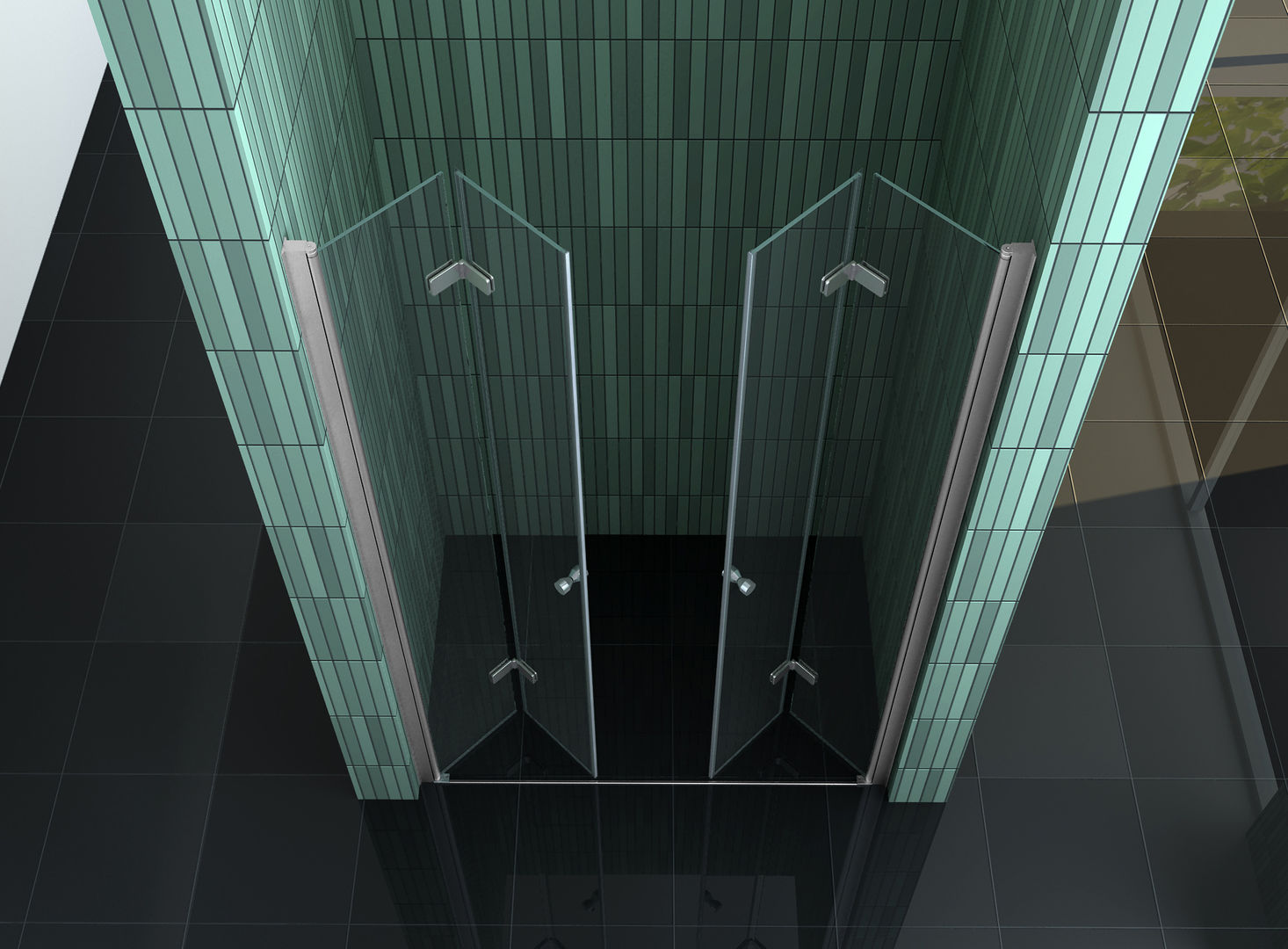 75 - 140 x 195 cm faltbare Nischentür Duschwand Duschtür ... | {Duschabtrennung faltbar 59}