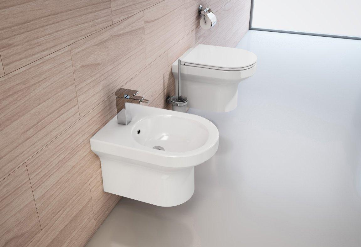Komplettset Wand-WC WHR-6060 + Wand-Bidet WHB-6068 inkl. Soft-Close Sitz