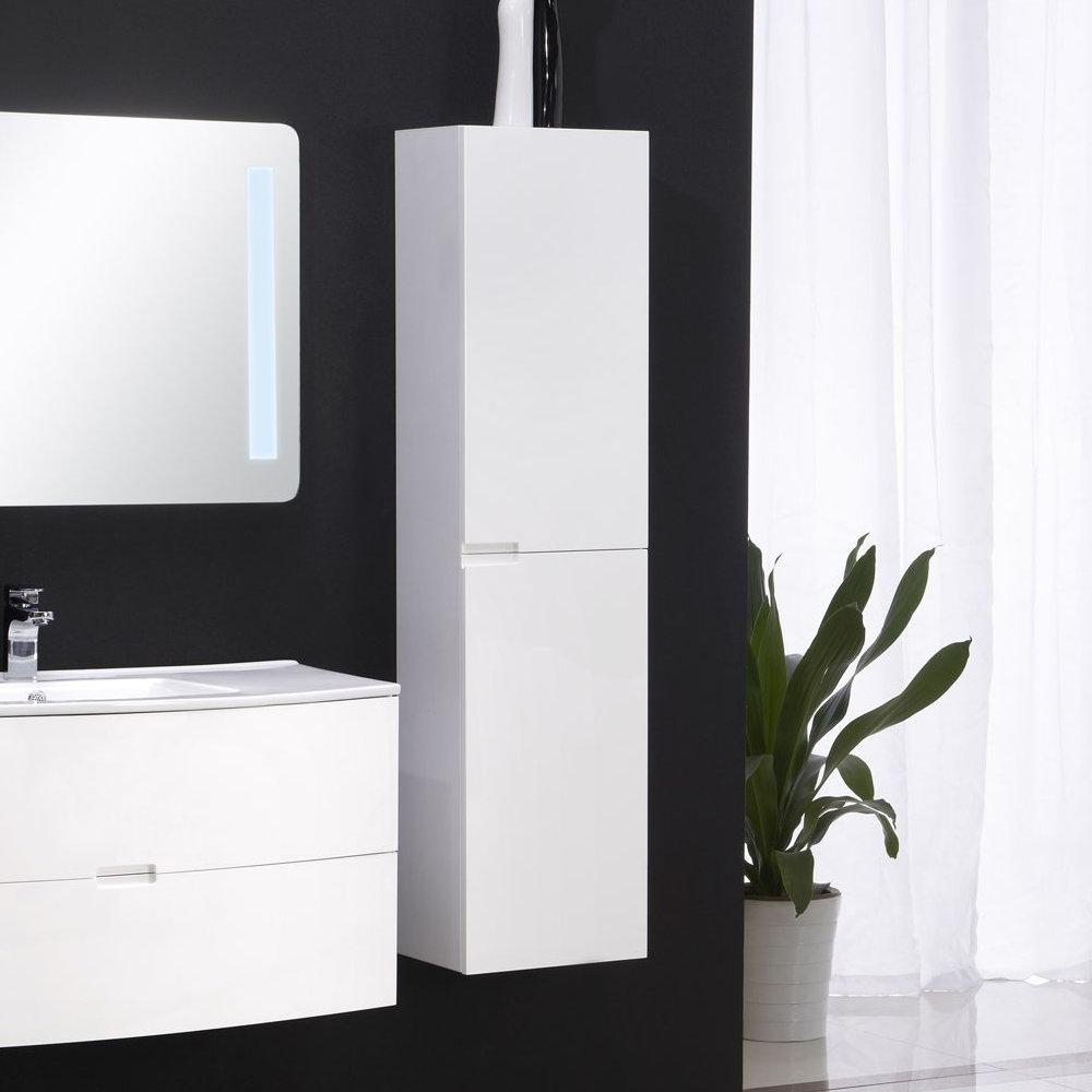 Badmöbel Seitenschrank ARCUA in weiß