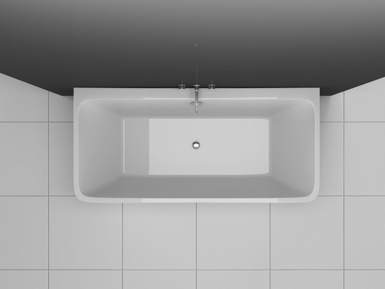 back to wall badewanne bw ix033 3 seitig freistehend. Black Bedroom Furniture Sets. Home Design Ideas