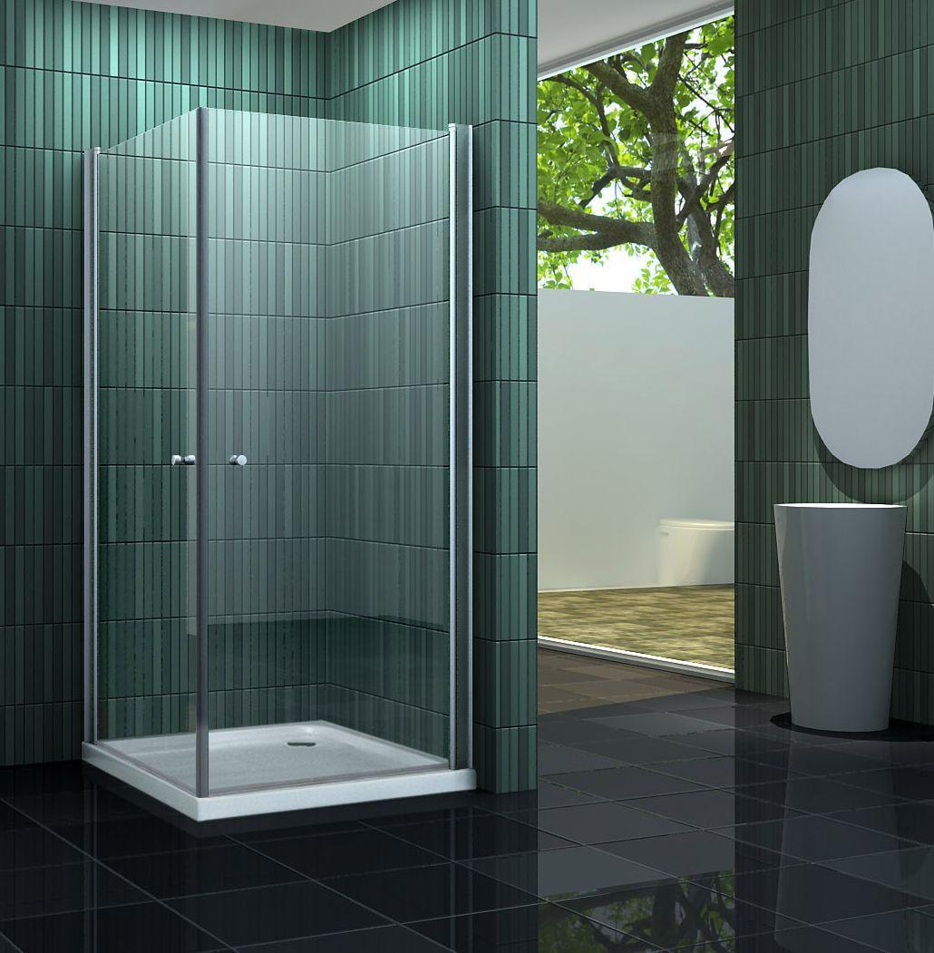 Duschkabine BANHO 90 x 90 x 190 cm ohne Duschtasse
