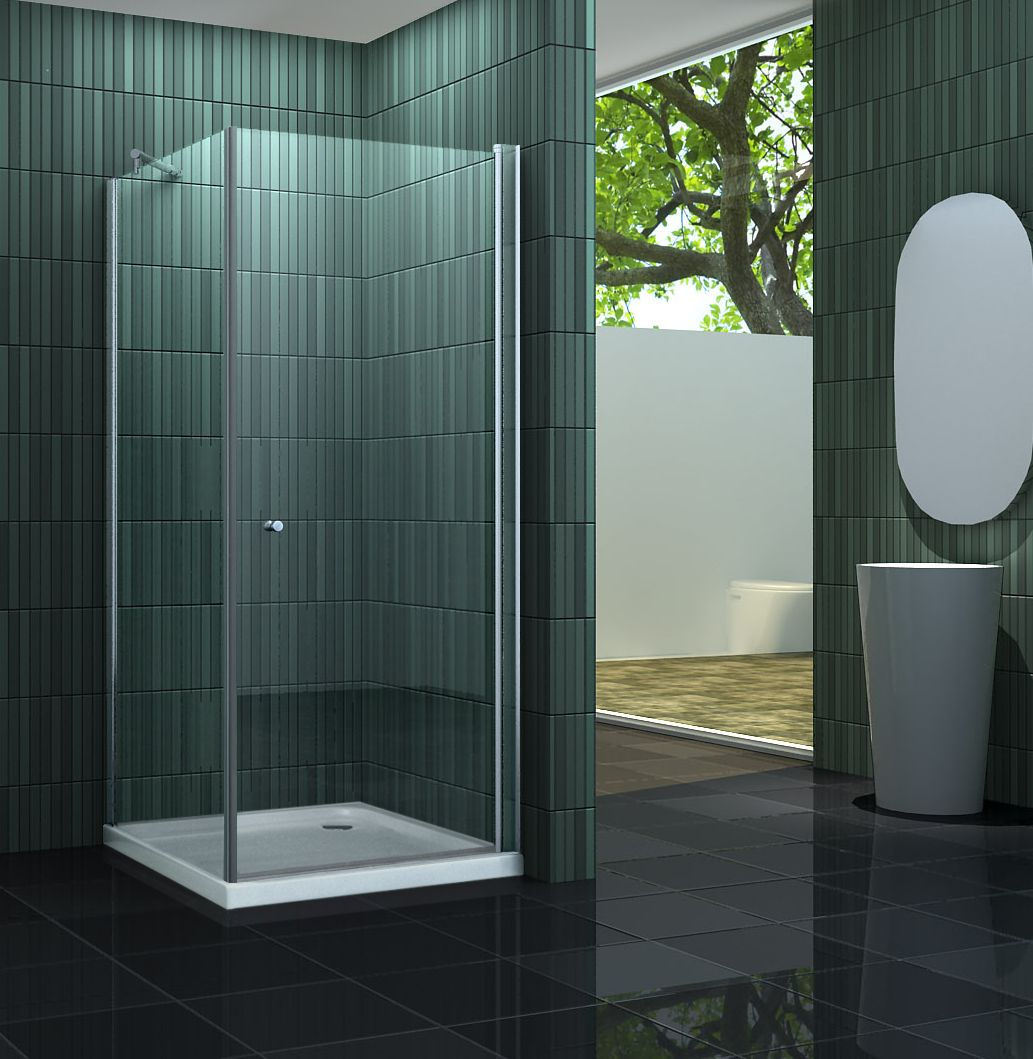 Duschkabine BANHO-ONE 80 x 80 x 190 cm ohne Duschtasse