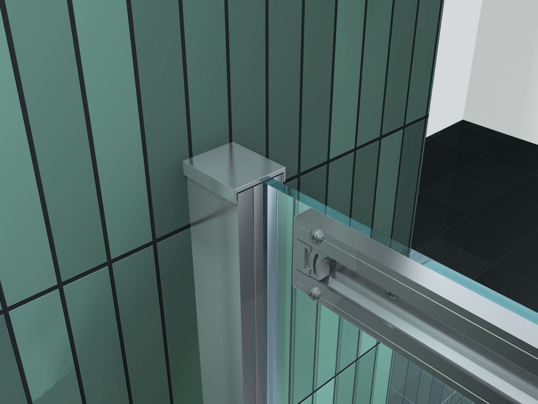 Duschtrennwand DOZE 120 x 150 Schiebet/ür Badewanne