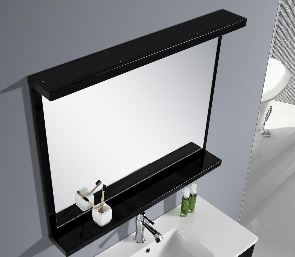 Badmöbel LED-Spiegel BOXO (schwarz)