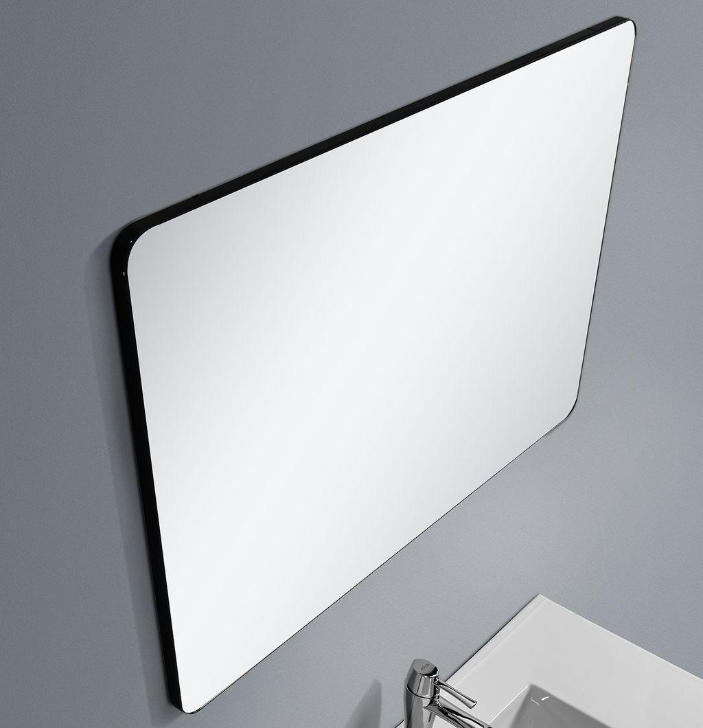 Badmöbel Spiegel BOXO 90 (schwarz)