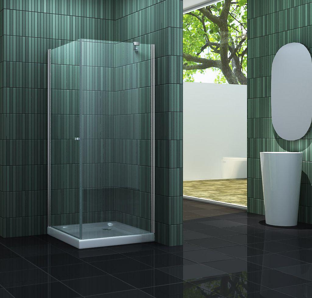 Duschkabine CASA-ONE 80 x 80 x 190 cm ohne Duschtasse