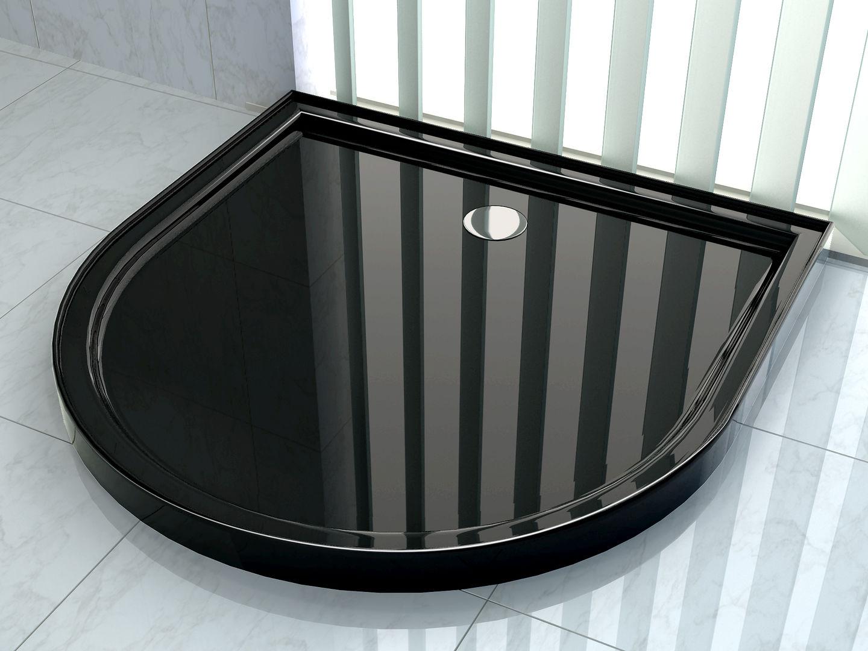 50 mm Duschtasse für U-Duschen 90 x 90 (schwarz)