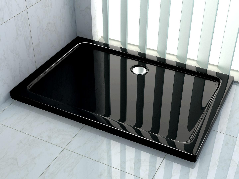 50 mm Duschtasse 80 x 90 cm (schwarz)