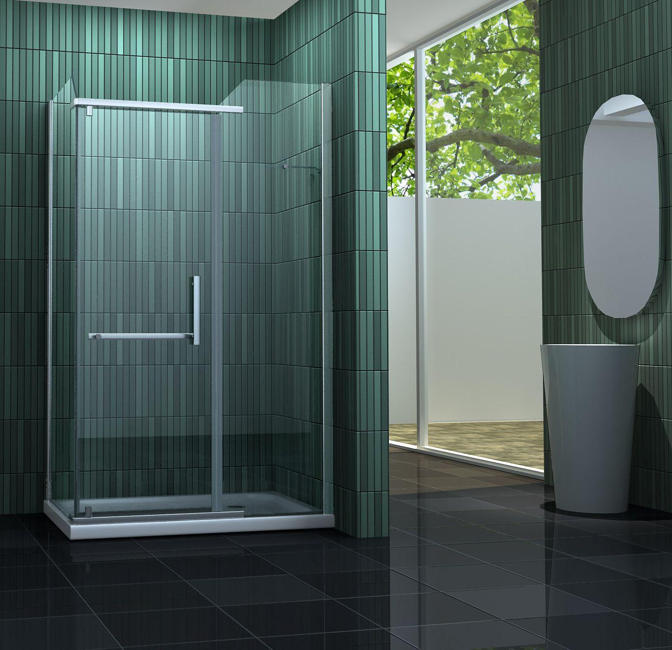 Duschkabine ENCO 100 x 80 cm ohne Duschtasse