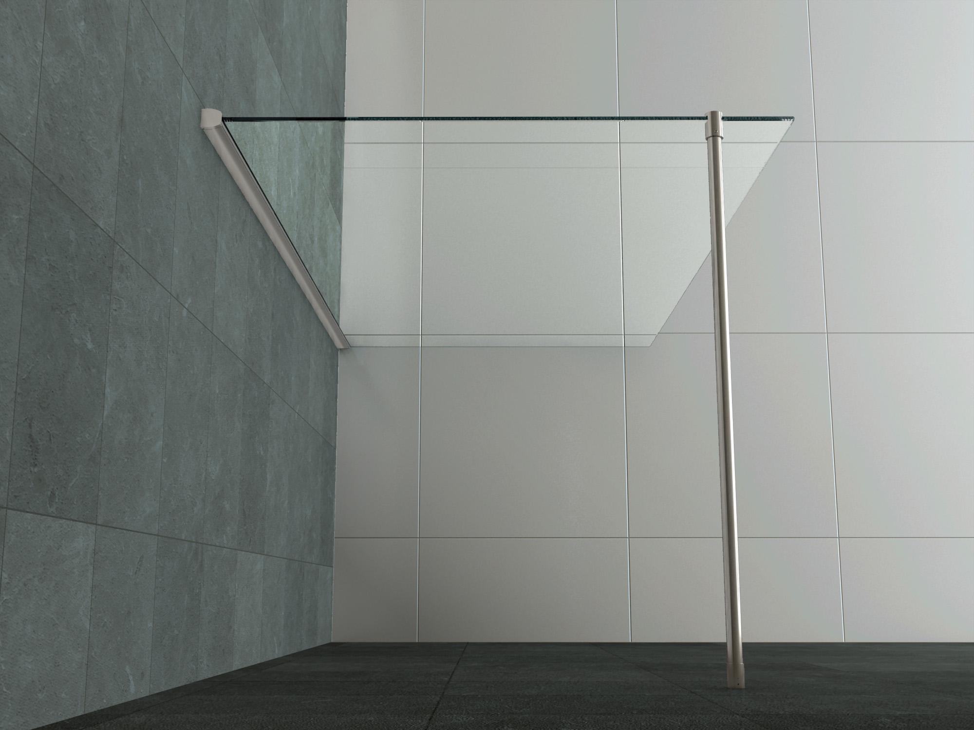 Duschtrennwand  100 - 140 x 200 Glas Duschwand Duschkabine Duschabtrennung Dusche ...