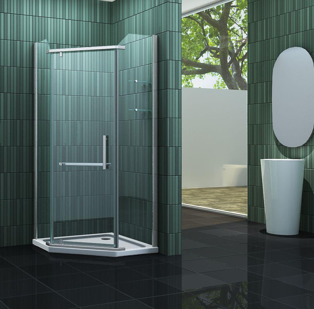 Fünfeck-Duschkabine FIVE 100 x 100 x 200 cm inkl. Duschtasse