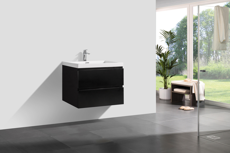 badm bel unterschrank flat 80 hochglanz schwarz. Black Bedroom Furniture Sets. Home Design Ideas