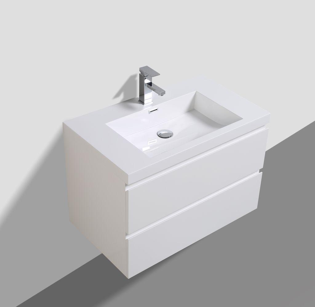 badm bel unterschrank flat 80 hochglanz wei. Black Bedroom Furniture Sets. Home Design Ideas