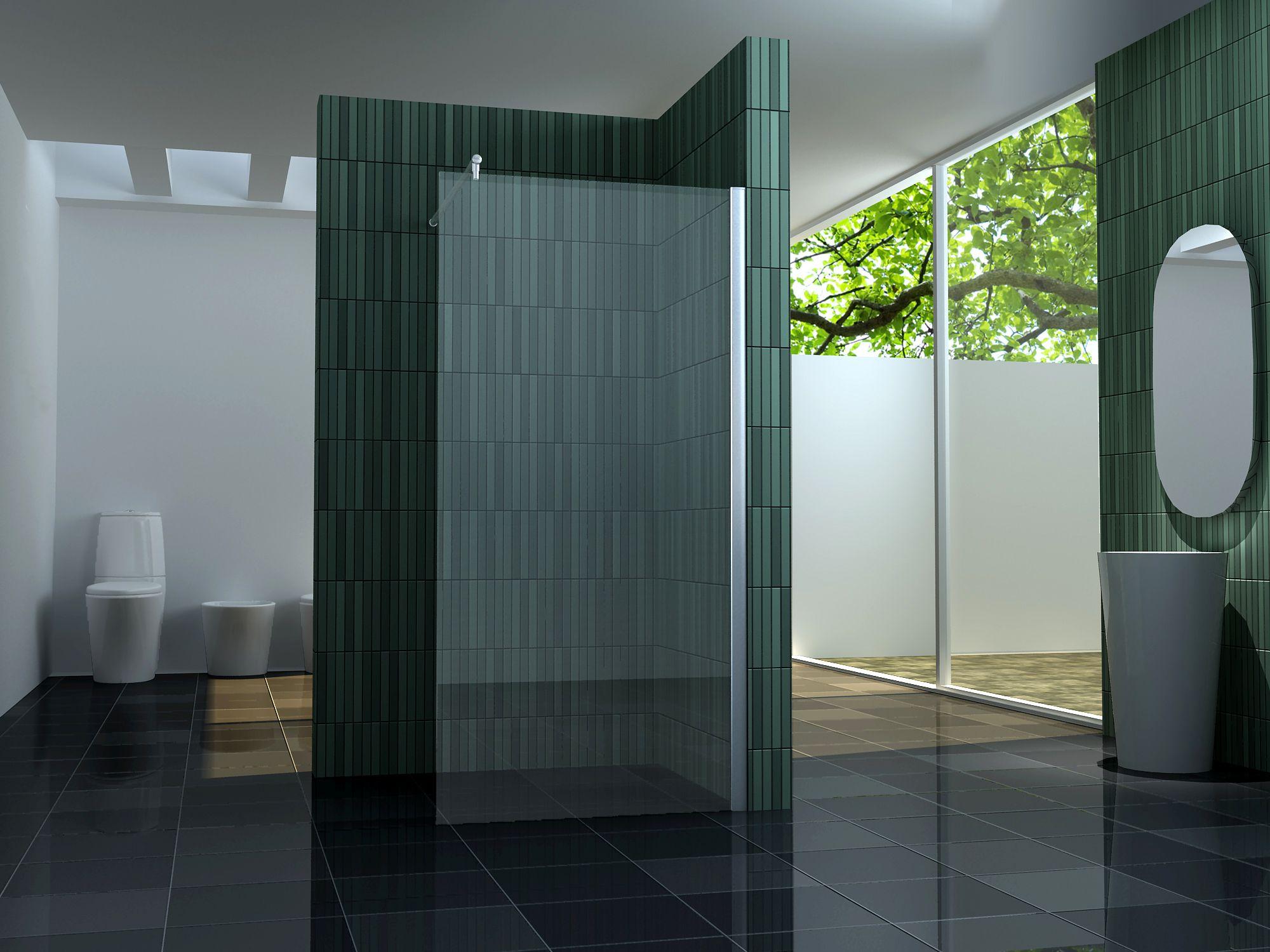 Badezimmer Glaswand
