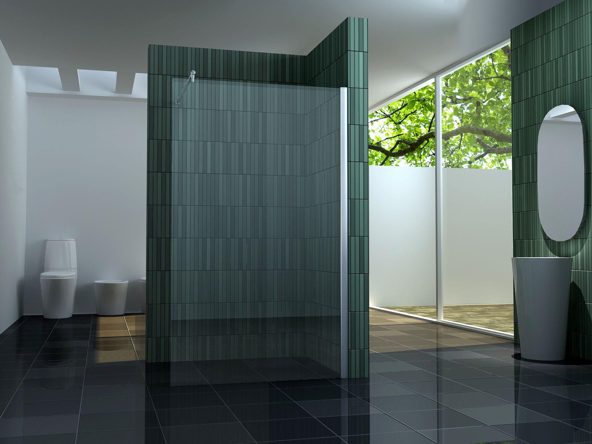 10 mm Duschtrennwand FREE 120 x 200 cm