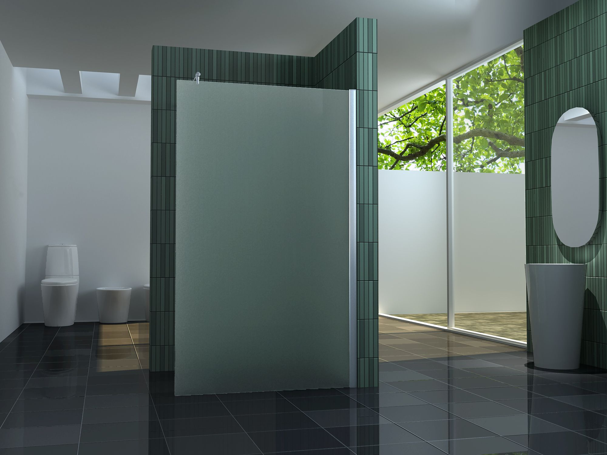 10 mm Duschtrennwand FREE-F 110 x 200 cm