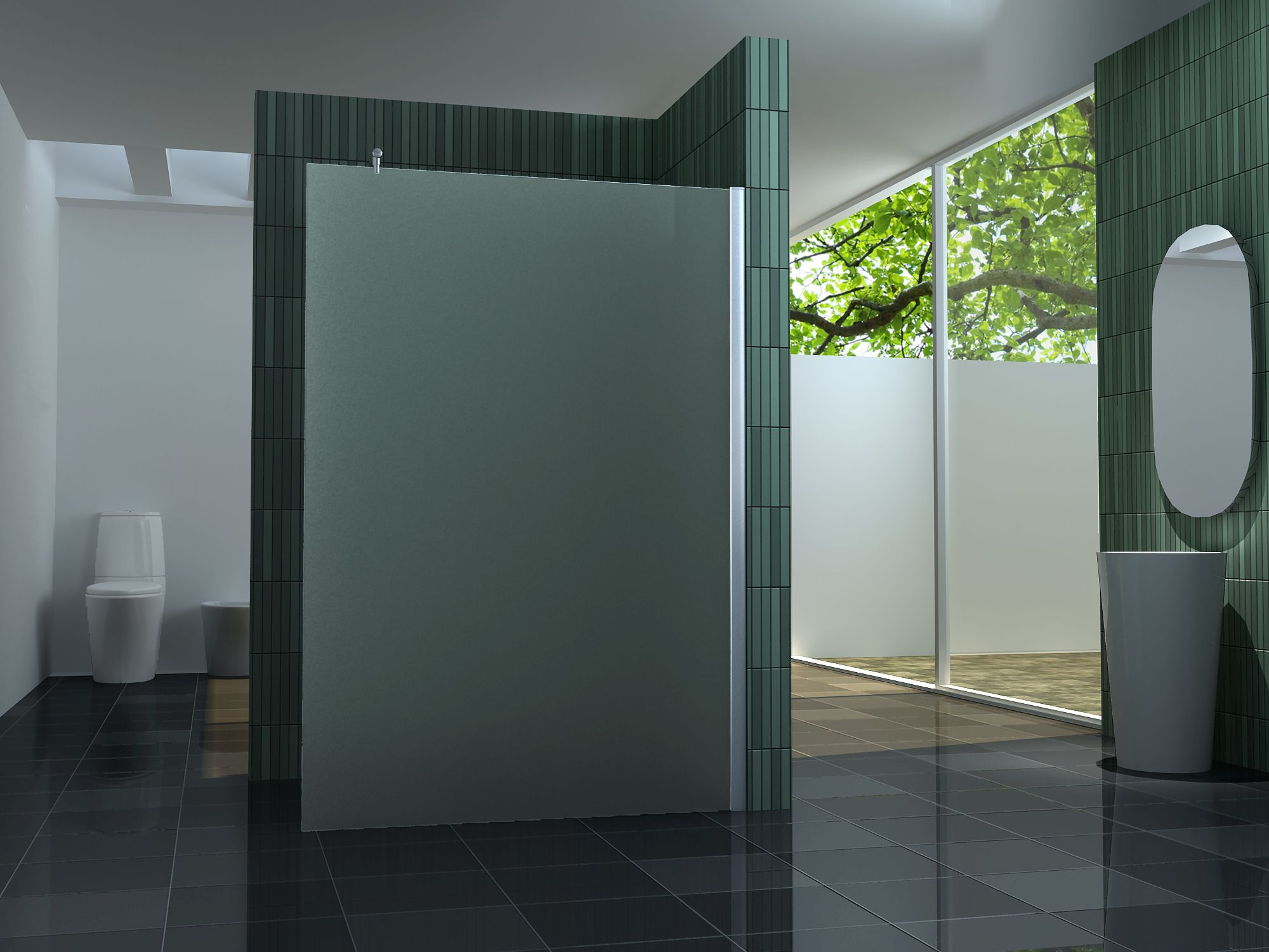 10 mm Duschtrennwand FREE-F 140 x 200 cm