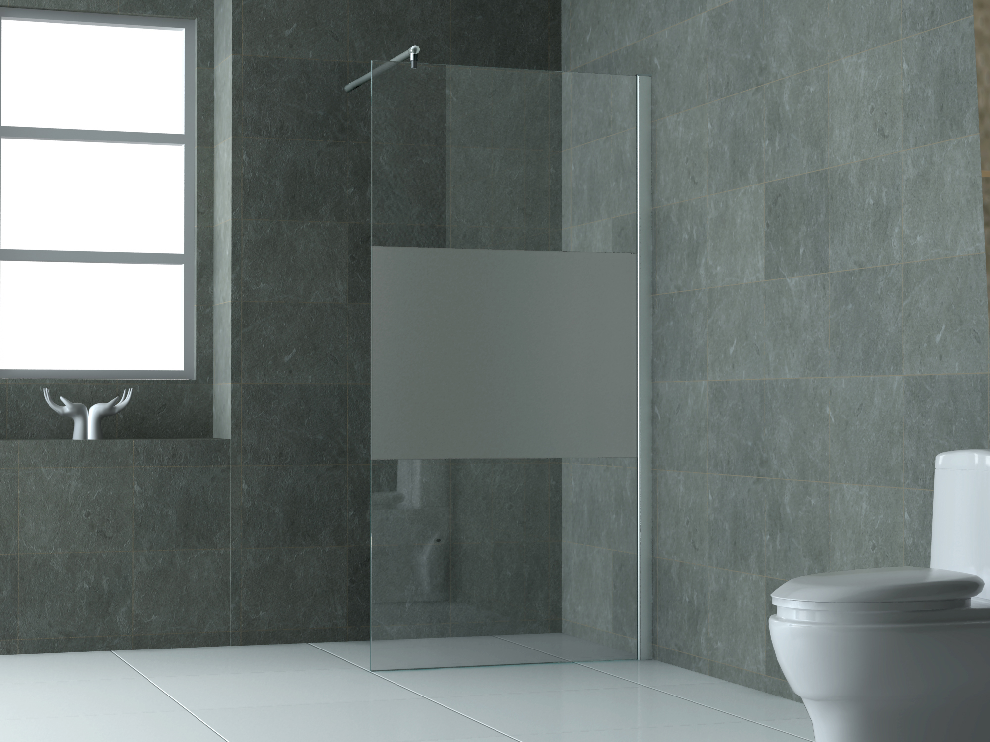 10 mm Duschtrennwand FREE-PF 140 x 200 cm