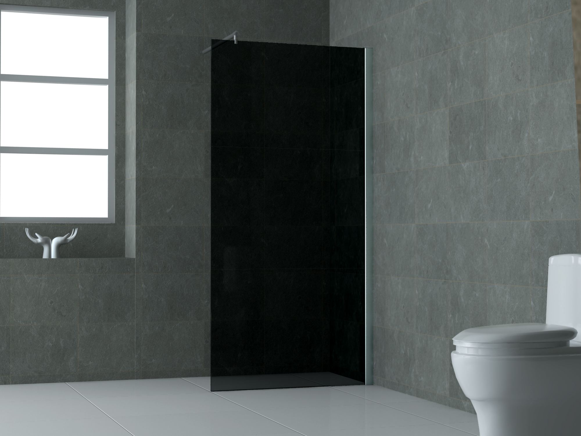 10 mm Duschwand FREE-S 130 x 200 cm