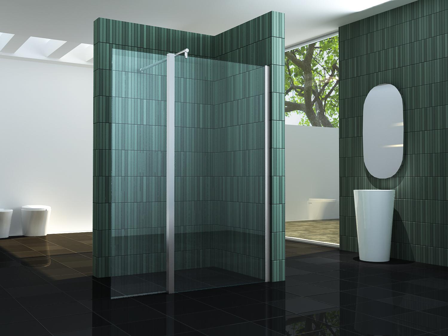 60 cm seitenteil f r walk duschwand duschkabine duschabtrennung dusche free ebay - Glasscheibe fur fenster ...