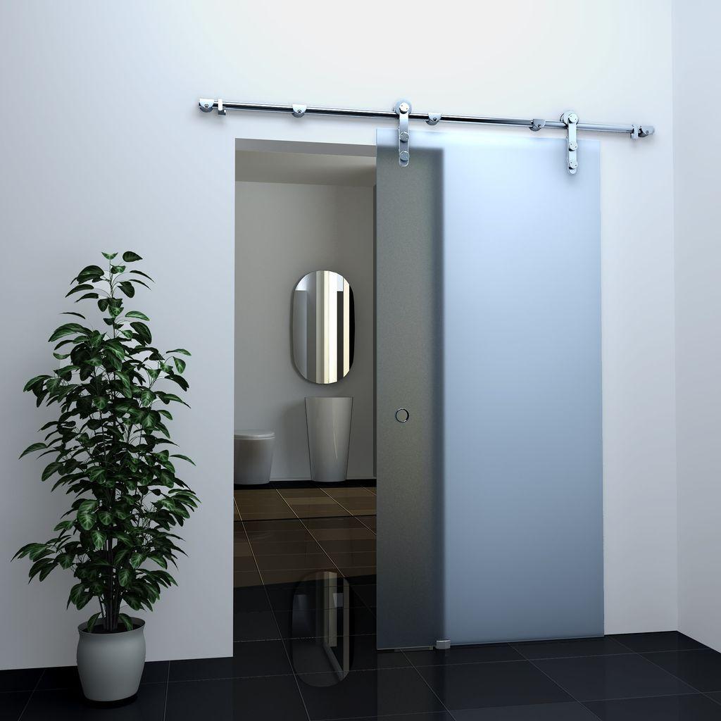 Glas-Schiebetür FROST in 77,5 x 205 cm
