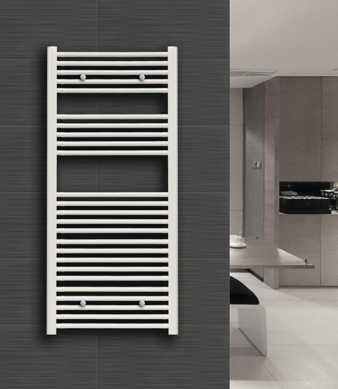 Badheizkörper Heat-2 in 160 x 60 cm (Seitenanschluss, weiß)
