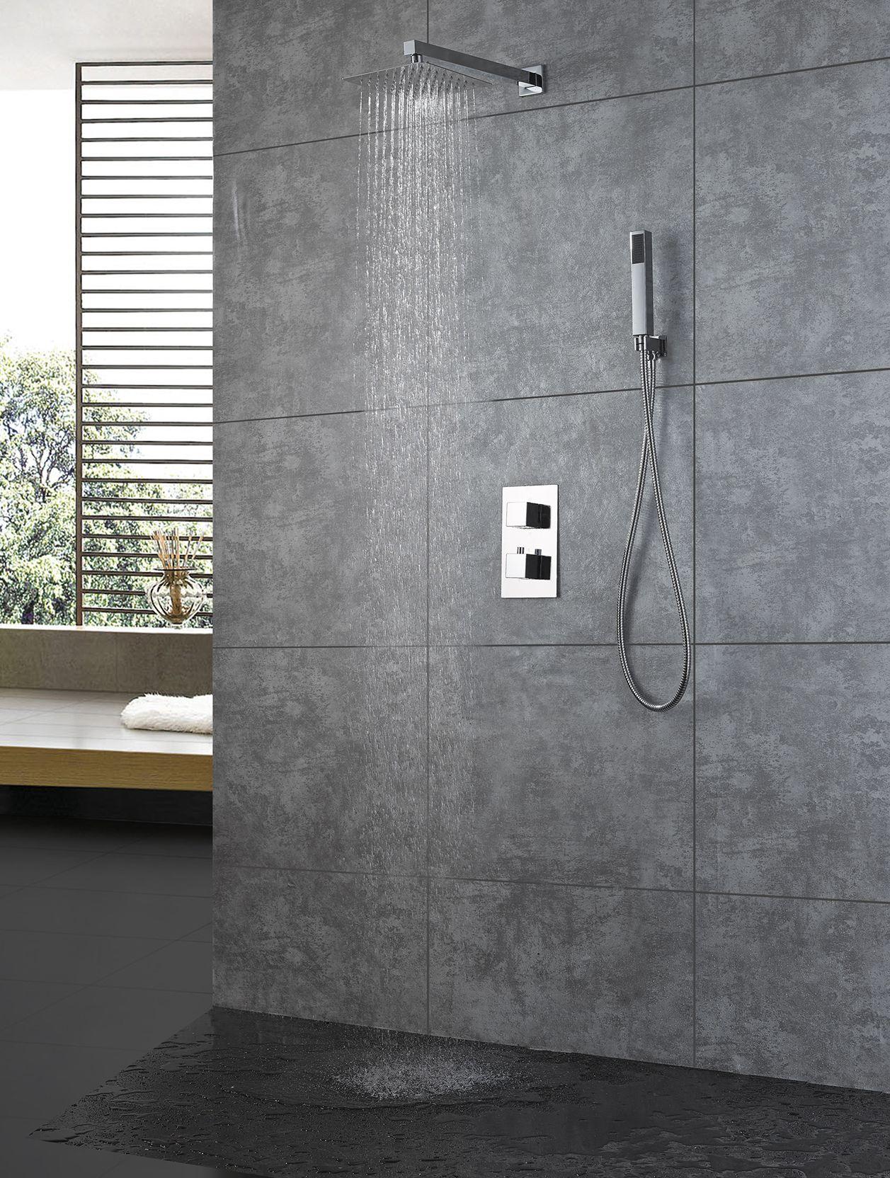 Unterputz Thermostat-Duschsystem IX-53 inkl. Einbaukörper