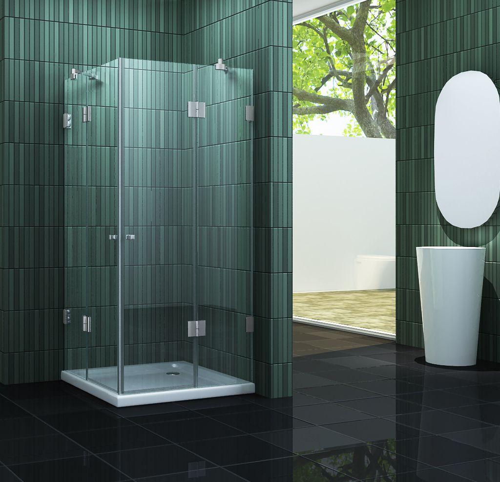 rahmenlose Duschkabine MARCOLO 90 x 90 x 195 cm ohne Duschtasse