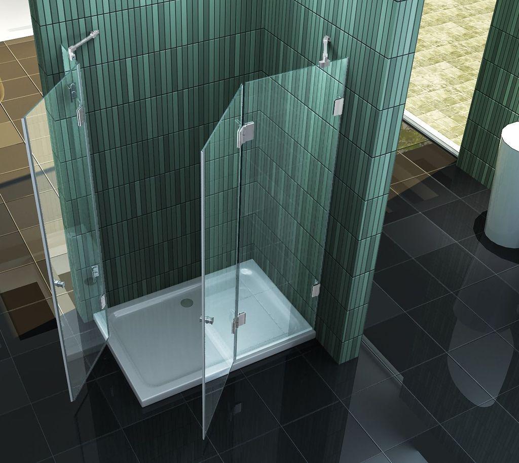 Duschkabine MARCOLO Glas Dusche Duschwand Duschabtrennung ...