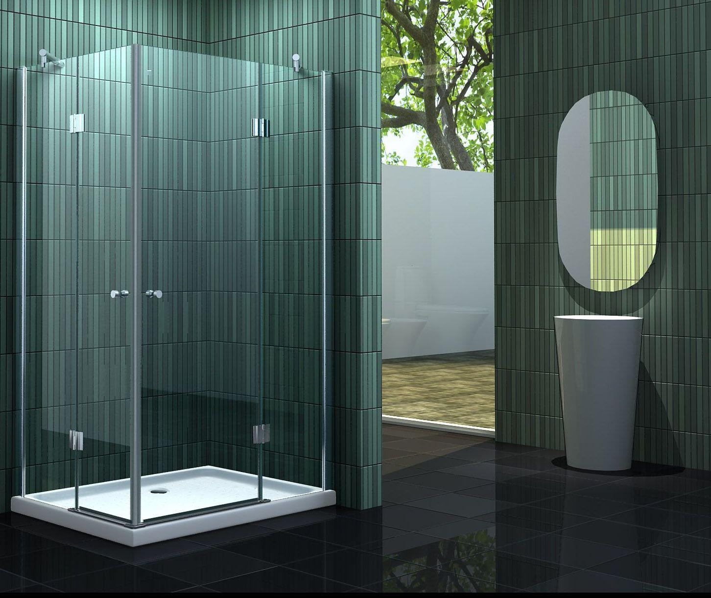 duschkabine banho 100 x 90 cm ohne duschtasse. Black Bedroom Furniture Sets. Home Design Ideas