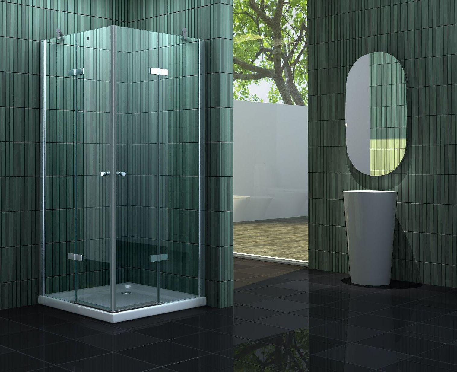 Duschkabine NEOTEC 90 x 75 cm ohne Duschtasse