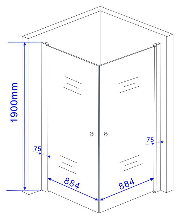 duschkabine banho 100 x 100 cm inkl duschtasse. Black Bedroom Furniture Sets. Home Design Ideas