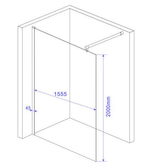 Walkin-10mm-Glas-Duschwand-Duschkabine-Duschabtrennung-Dusche-Duschtrennwand
