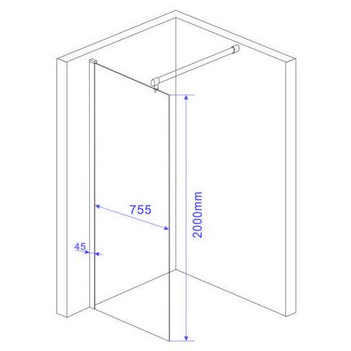walkin 10mm glas duschwand duschkabine duschabtrennung dusche duschtrennwand ebay. Black Bedroom Furniture Sets. Home Design Ideas