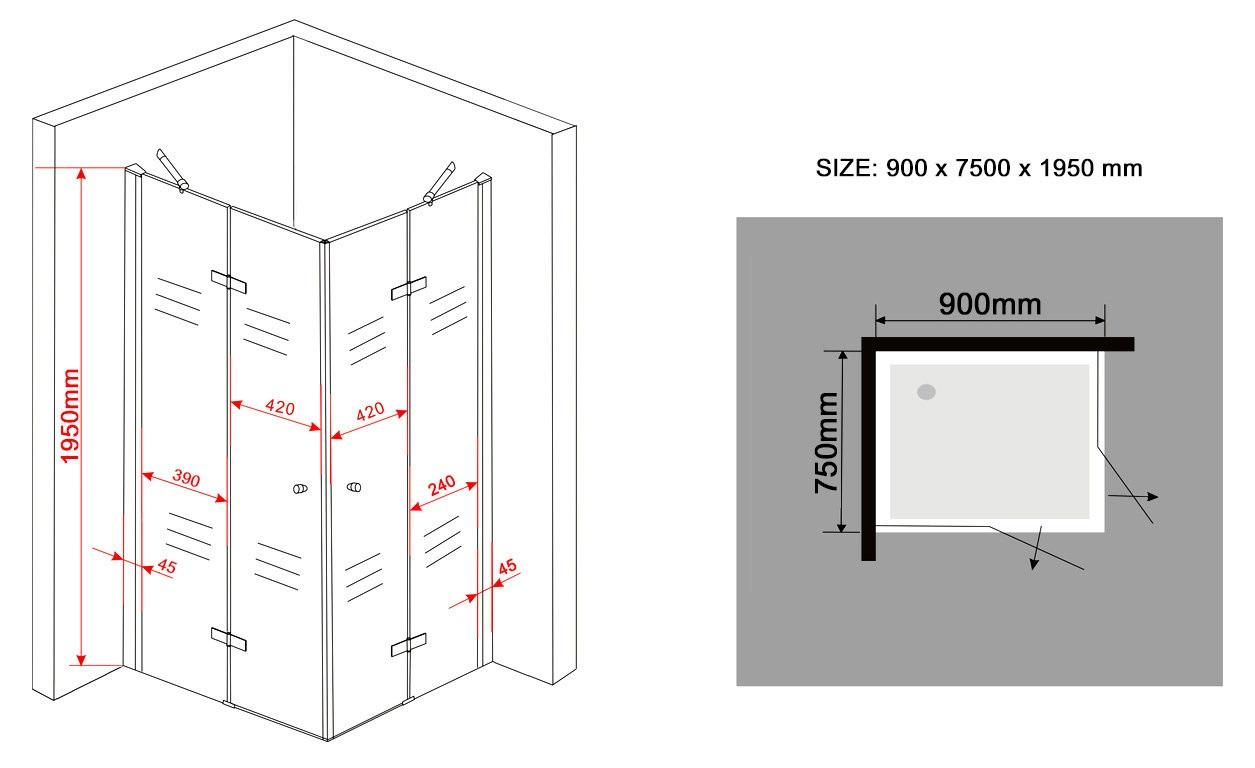 NEOTEC-Glas-Duschkabine-Eckeinstieg-Dusche-Duschwand-Duschabtrennung