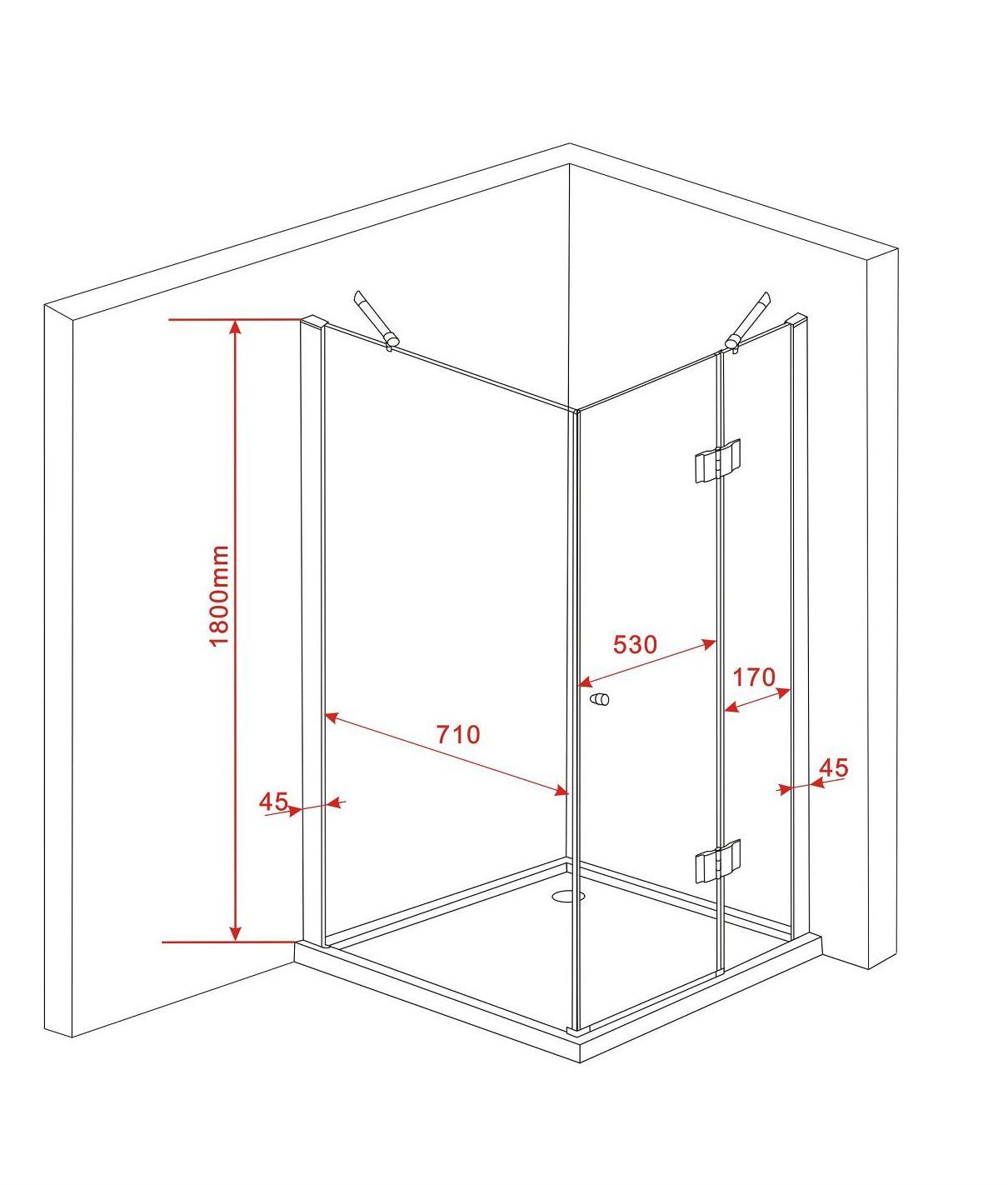 sill 80 x 80 x 180 duschtasse glas duschkabine duscht r dusche duschabtrennung ebay. Black Bedroom Furniture Sets. Home Design Ideas