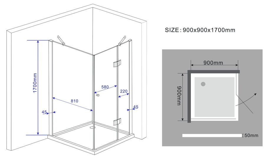 SILL-Glas-Duschkabine-Dusche-Duschwand-Duschabtrennung-Duschtrennwand