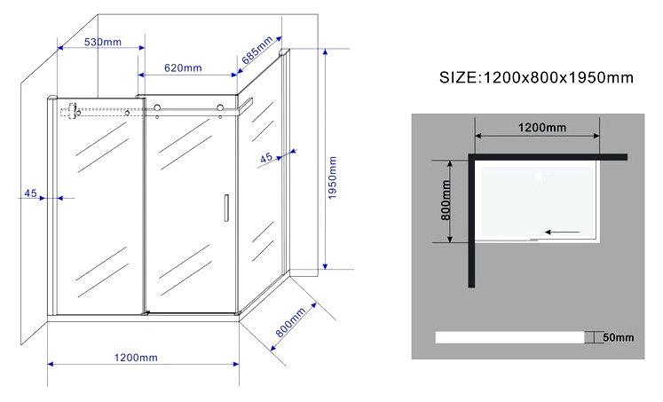 TECHNO-Glas-Duschkabine-Dusche-Duschwand-Duschabtrennung-Duschtrennwand