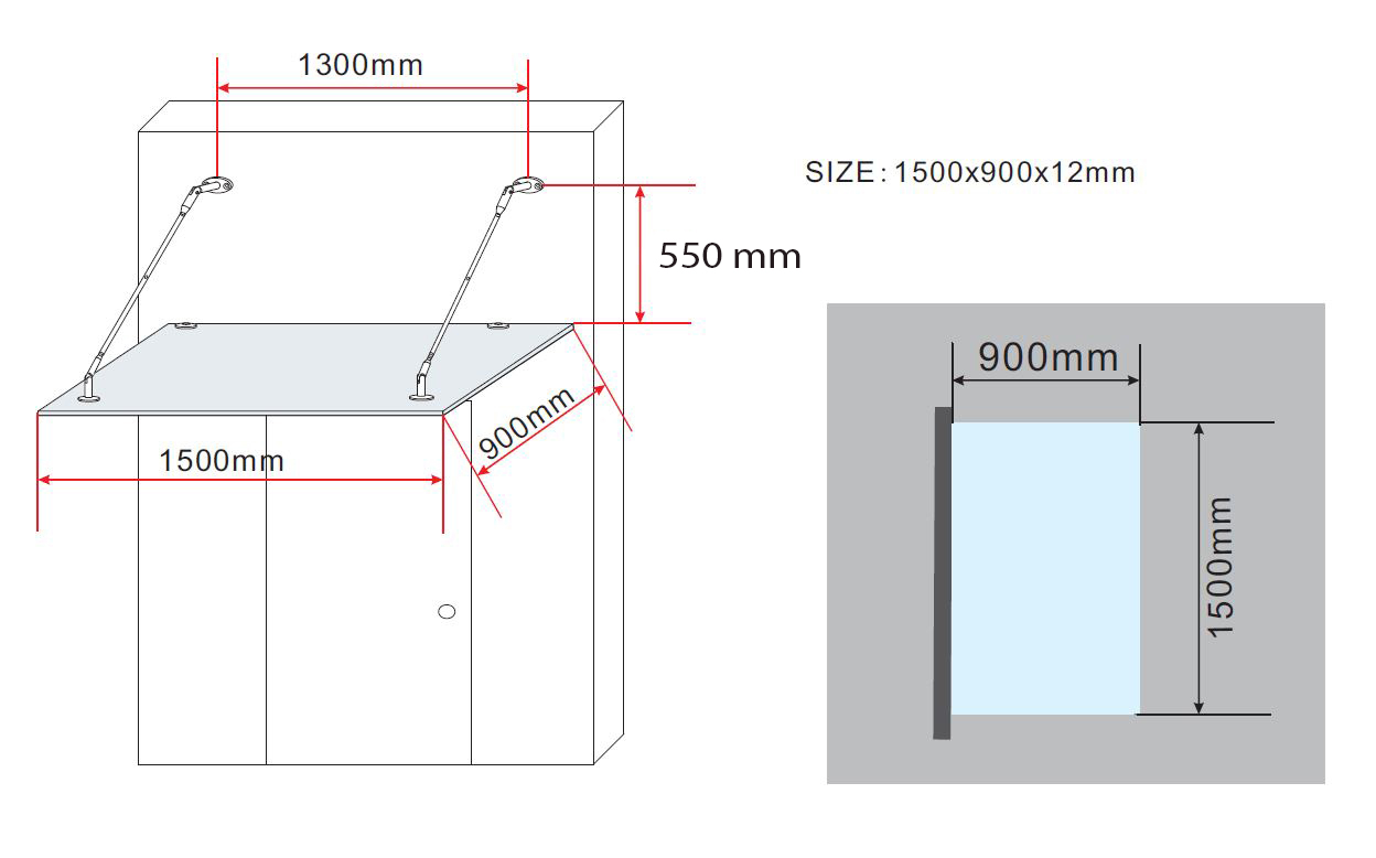 Glasvordach-150-180-200x90-cm-Vordach-Haustuer-Tuervordach-Tuerdach-Klarglas-VSG