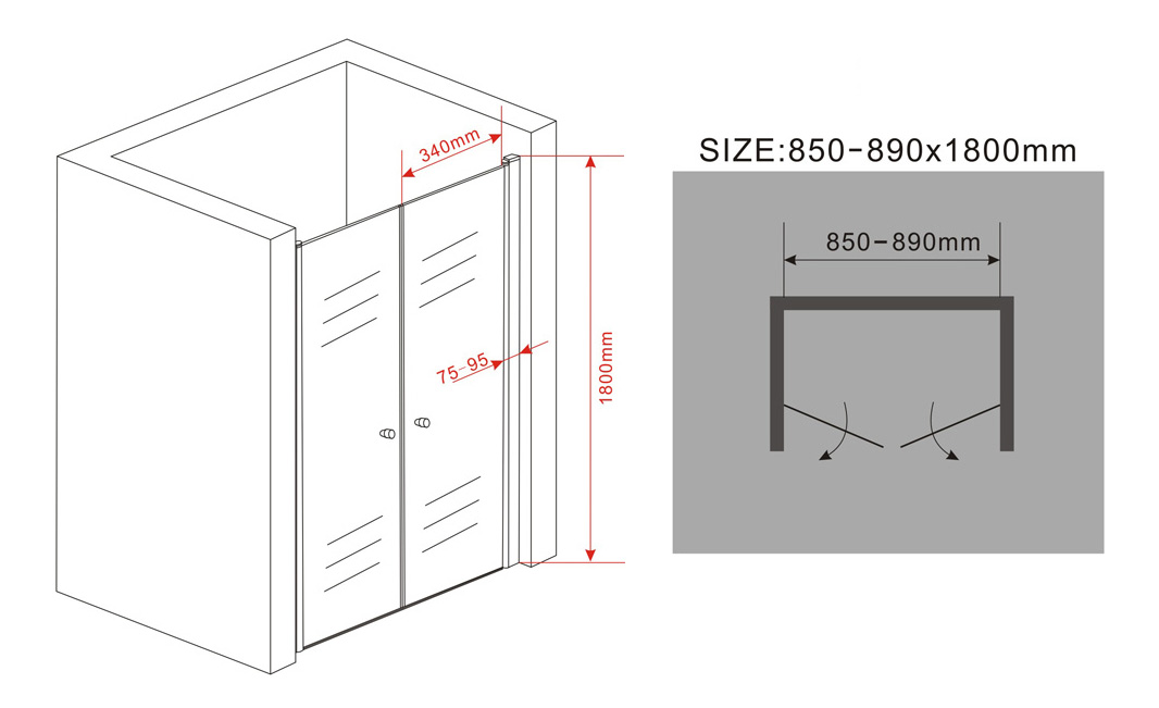 75-100-x-180-cm-Nischentuer-Duschwand-Pendeltuer-Duschtuer-Duschabtrennung-Dusche