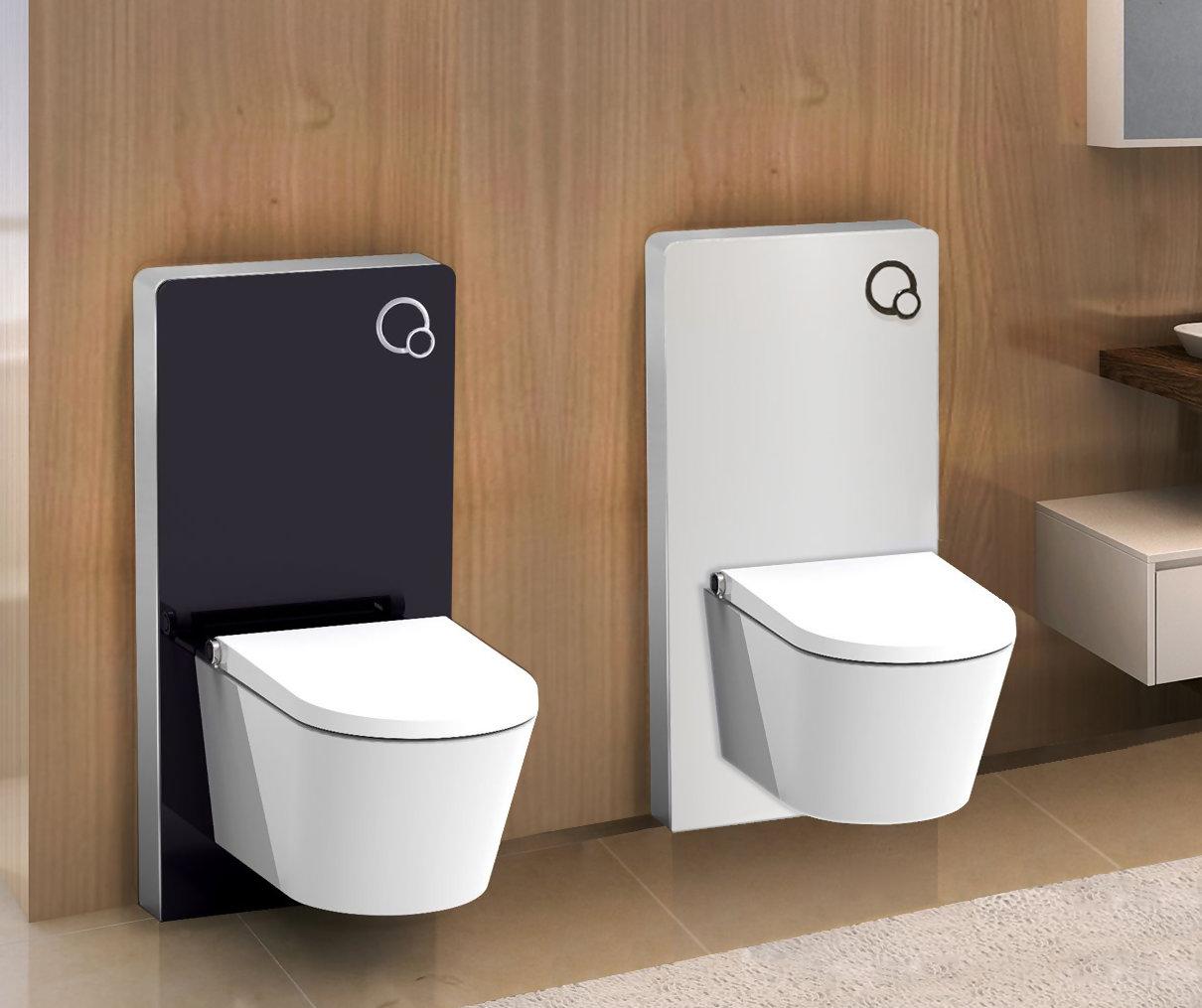 glas sanit rmodul f r wand wc vorwandelement sp lkasten montageelement ebay. Black Bedroom Furniture Sets. Home Design Ideas