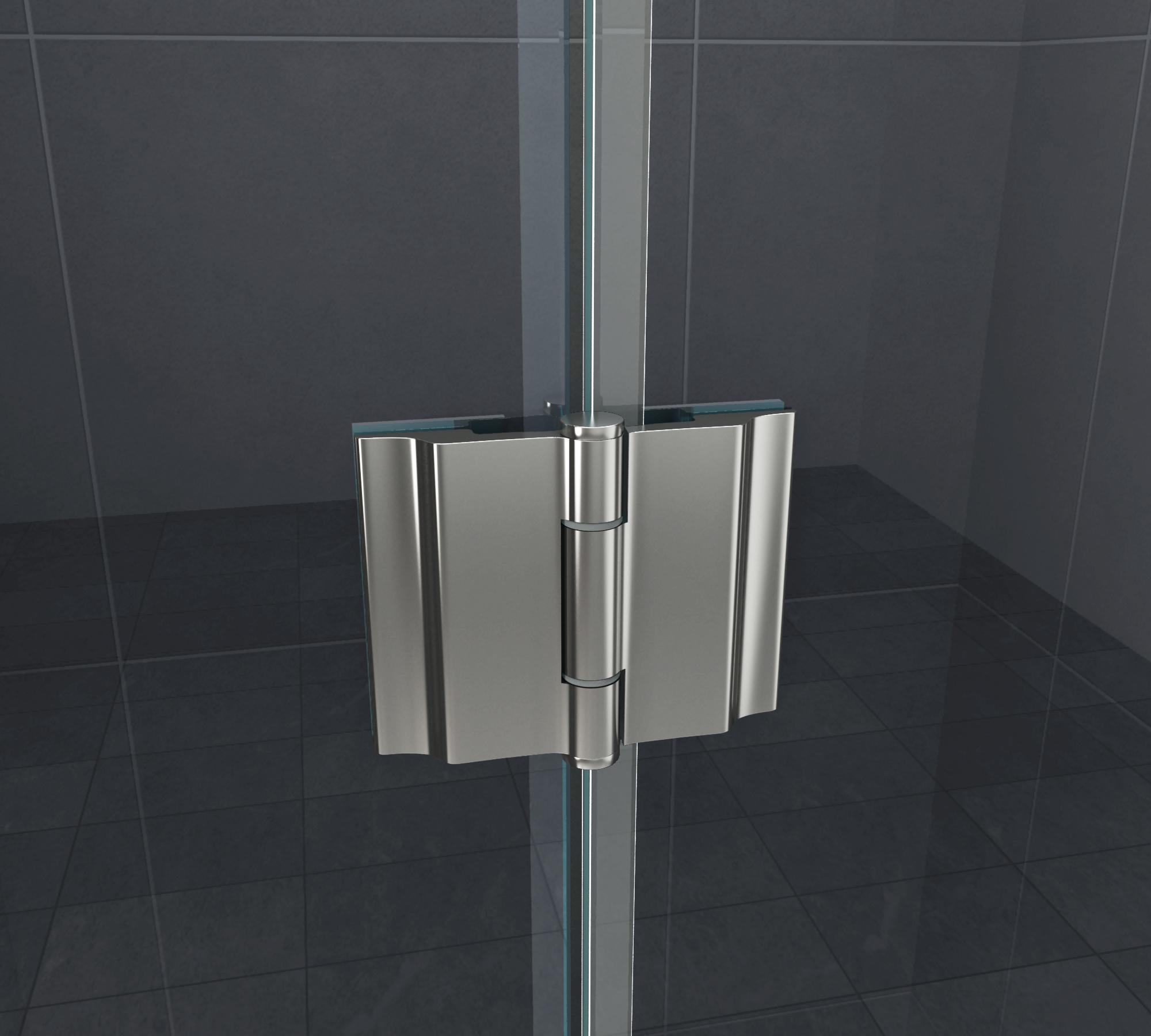 Scharnier / Beschlag für Duschen S02