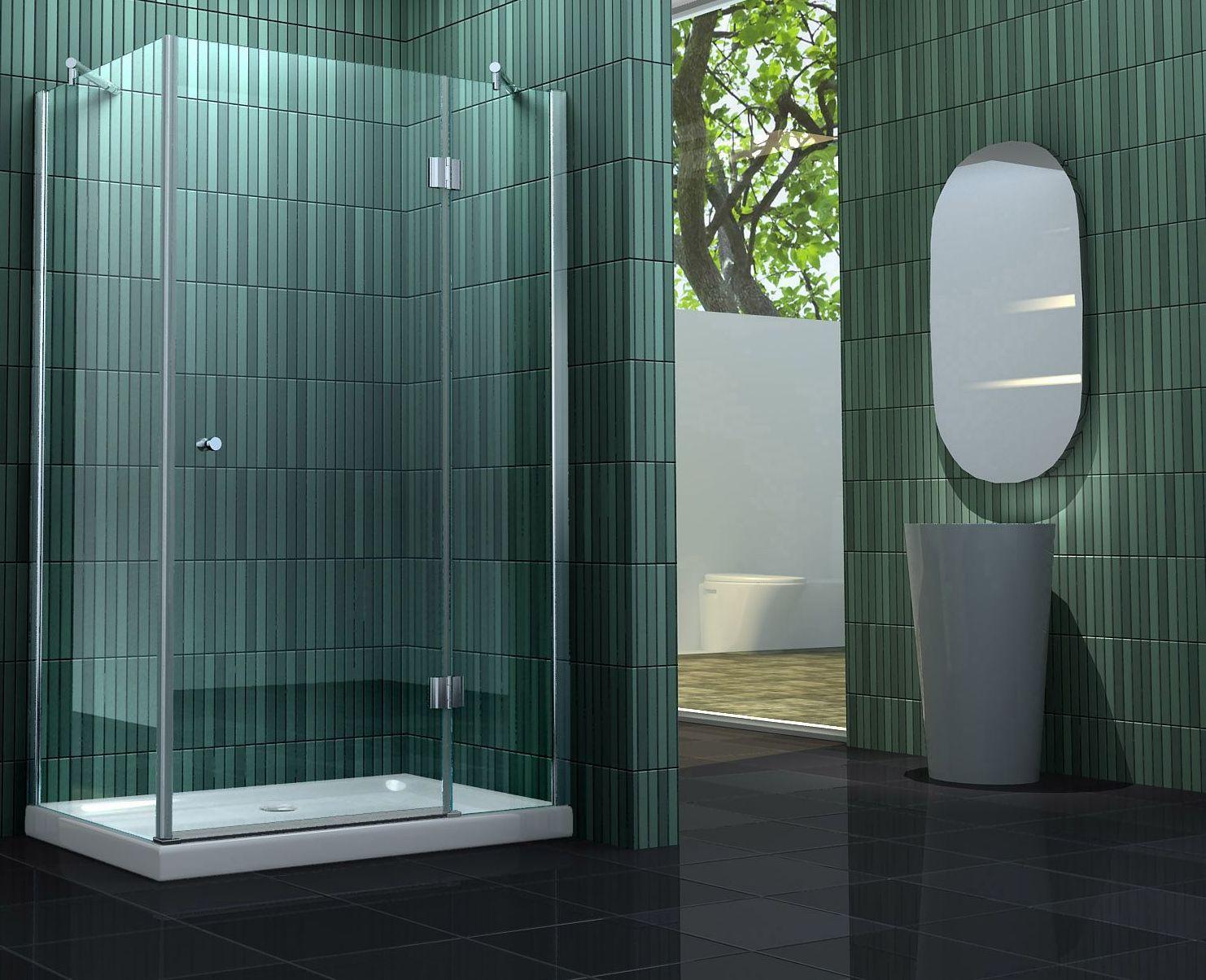 Duschkabine SILL 80 x 80 x 195 cm ohne Duschtasse