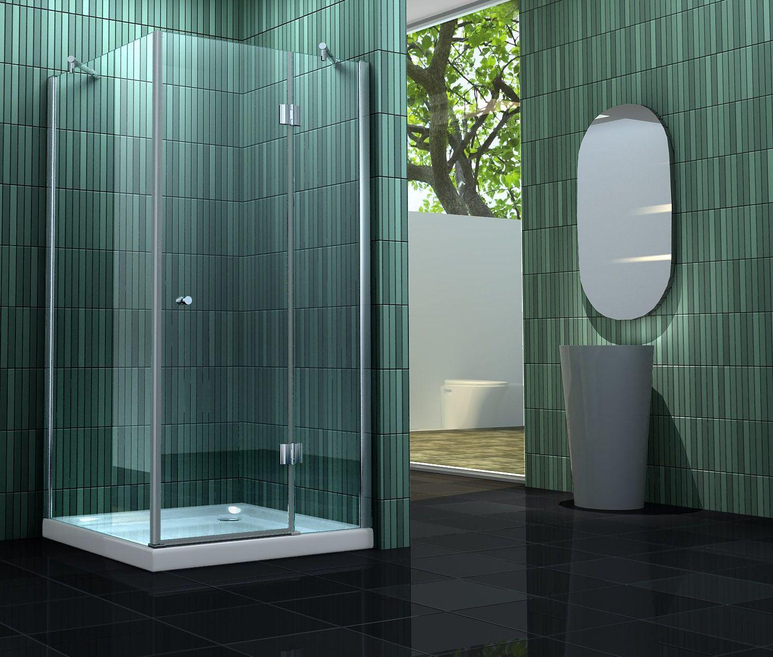 Sehr Gut Duschkabine SILL 90 x 90 x 170 cm ohne Duschtasse JH97