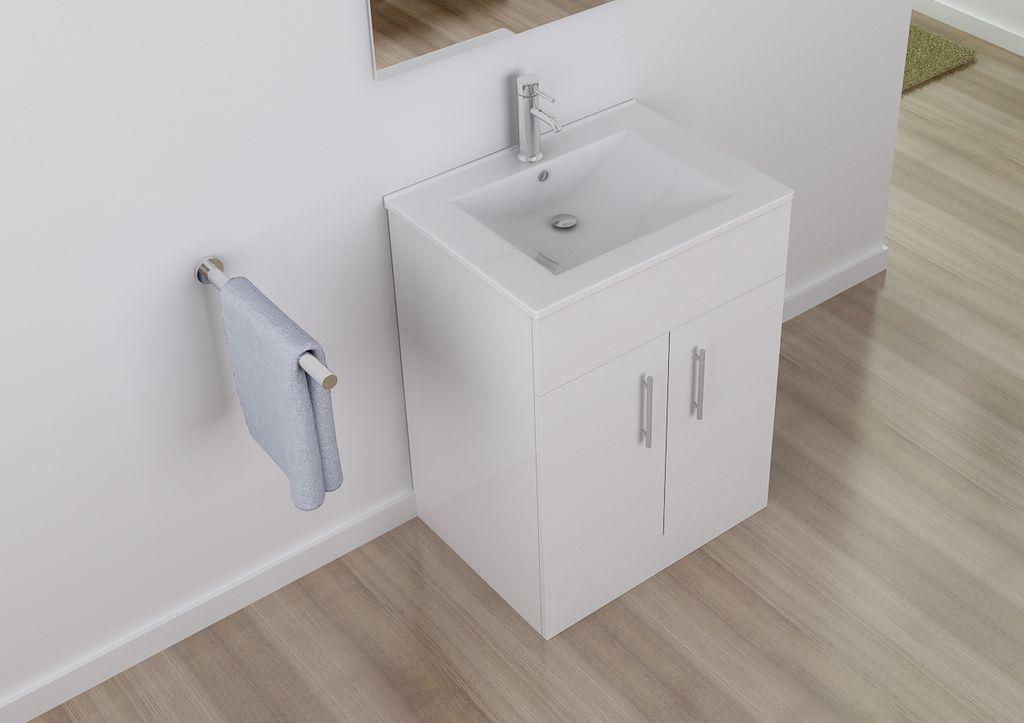 badm bel unterschrank sojo in wei inkl waschtisch. Black Bedroom Furniture Sets. Home Design Ideas