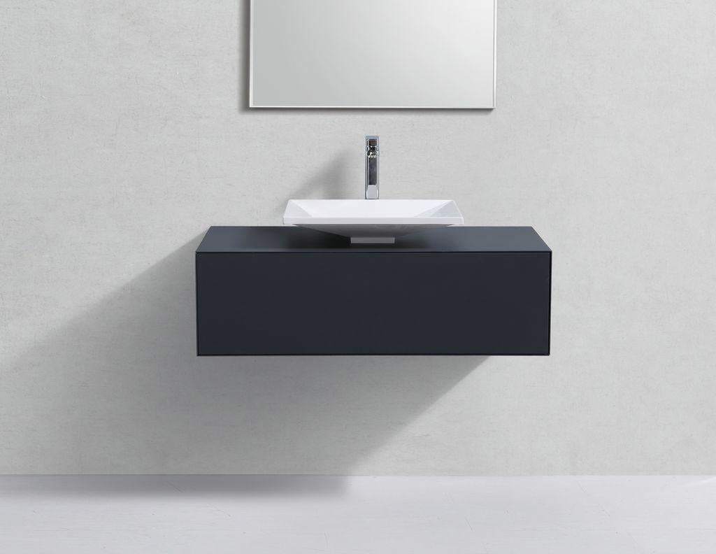 badm bel unterschrank stellar 100 in grau inkl waschtisch. Black Bedroom Furniture Sets. Home Design Ideas