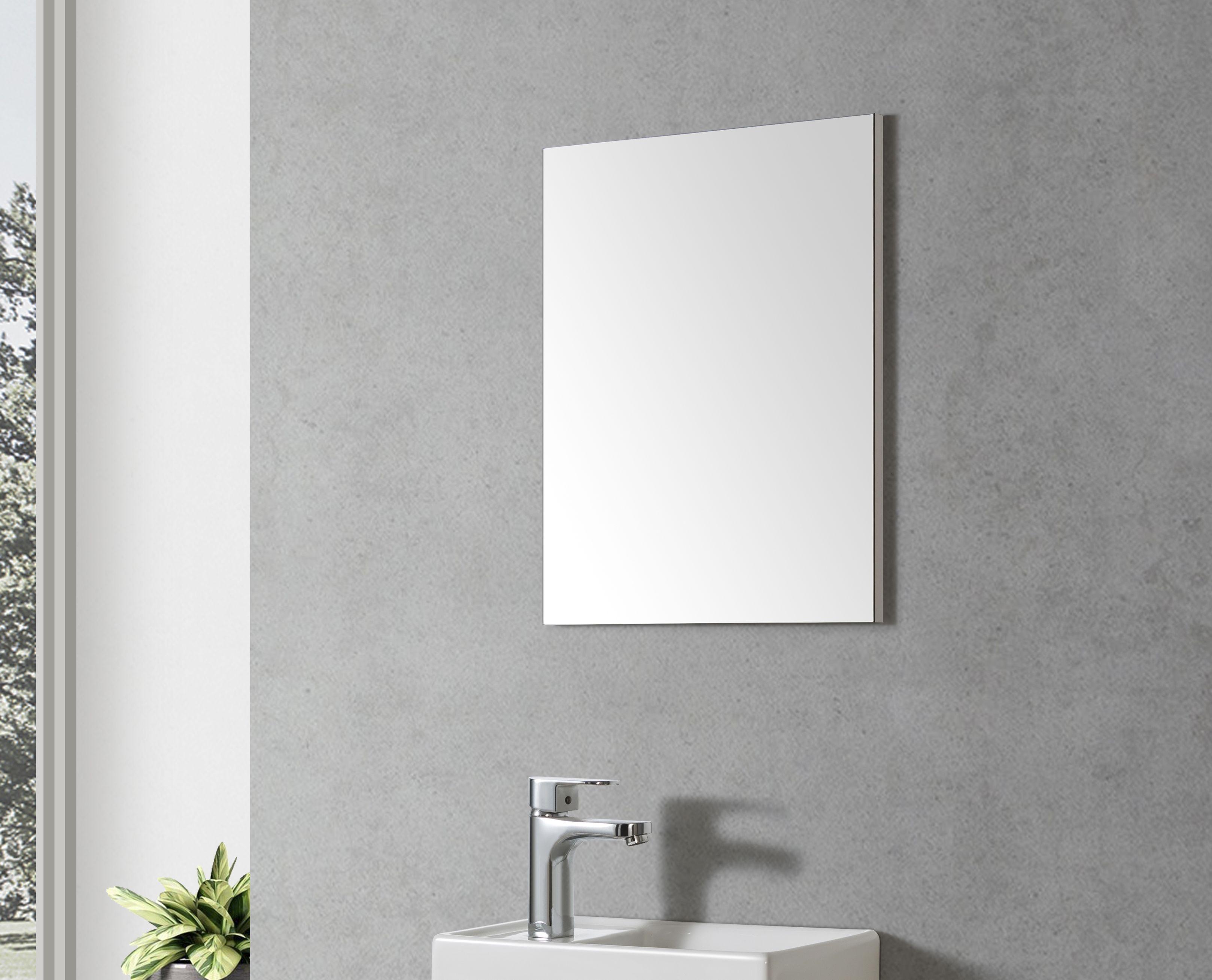 Badmöbel Spiegel TOURI 40 (weißer Rahmen)