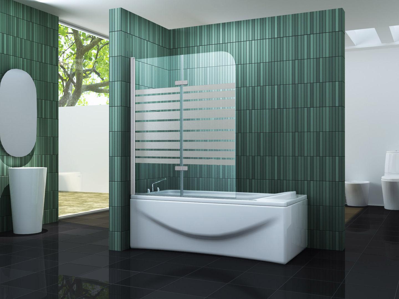 Duschtrennwand TWO-F 100 x 140 (Badewanne)
