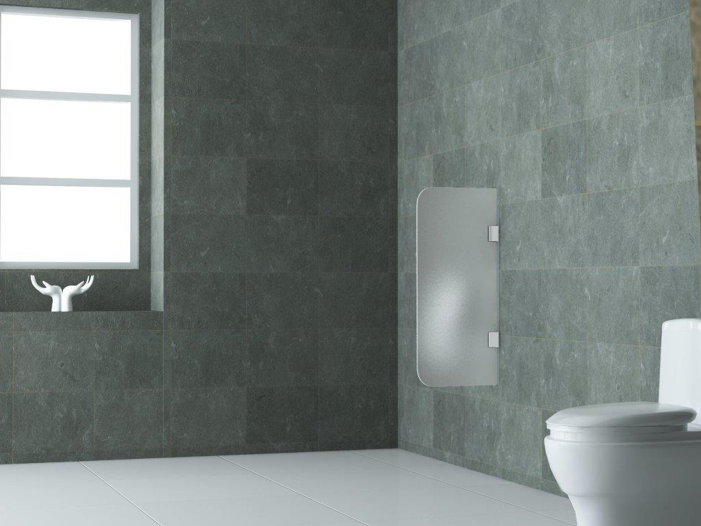 urinaltrennwand aus milch glas 90x40cm schamwand pissoir sichtschutz urinal wand ebay. Black Bedroom Furniture Sets. Home Design Ideas
