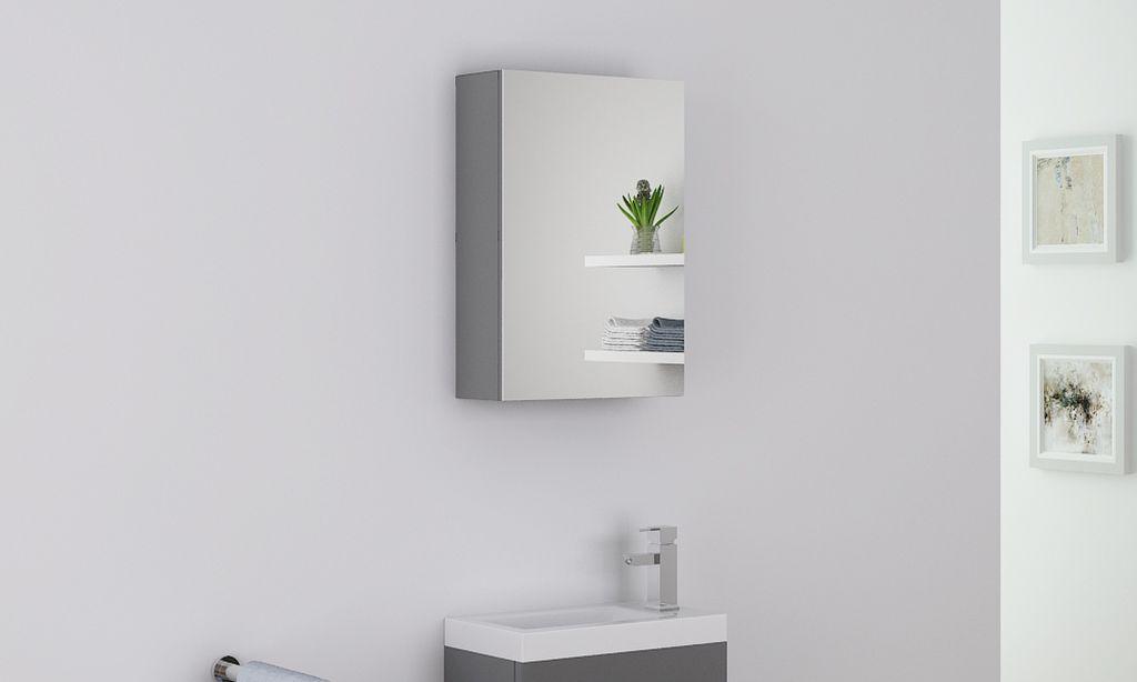 Badmöbel Spiegelschrank VISIT in grau